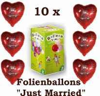 10 x folien herzballons helium hochzeit im shop. Black Bedroom Furniture Sets. Home Design Ideas