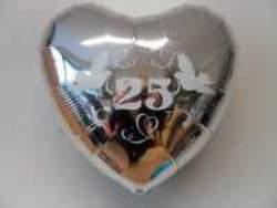 folienluftballon 25 silber im shop. Black Bedroom Furniture Sets. Home Design Ideas