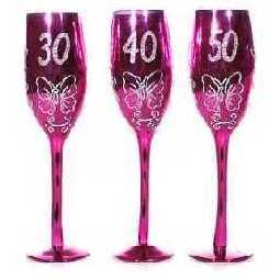sektglas 40 geburtstag pink im shop. Black Bedroom Furniture Sets. Home Design Ideas