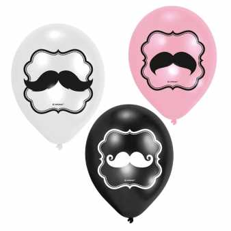 Latex Luftballons Moustaches