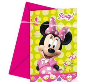 Minnie Party Einladungskarten