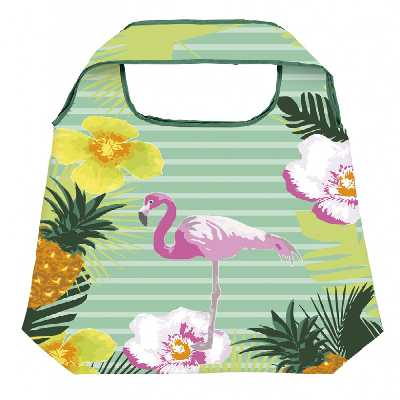 Shopper Tropen mit Flamingo