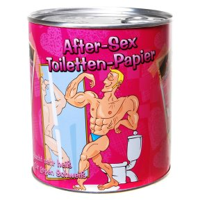 Toilettenpapier in Metalldose After Sex