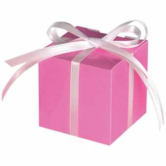 100x Give away Boxen / Schachteln, rosa