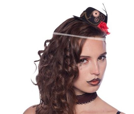 Steampunk Tiara mit Mini Hut