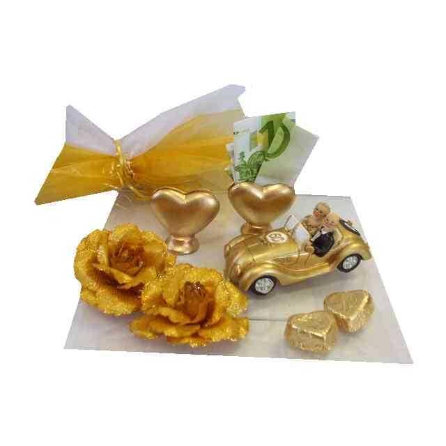 Deko goldene hochzeit dekoration zur goldenen hochzeit 5 for Goldene hochzeit dekoration