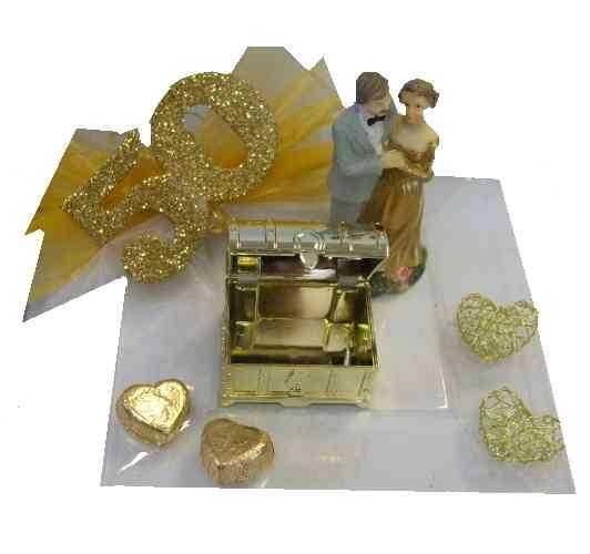 Deko goldene hochzeit selber basteln - Goldene hochzeit geschenk selber basteln ...