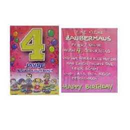 Geburtstagskarte   4 Jahre im Shop: