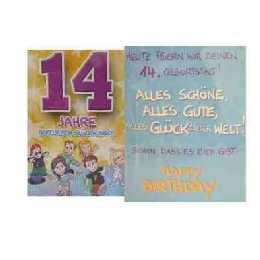 Geburtstagskarte   14 Jahre im Shop: