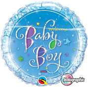 Welcome Baby Boy Stars, Holographic