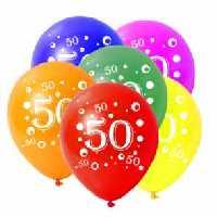 geburtstag 5 x luftballons mit zahl 50 im shop. Black Bedroom Furniture Sets. Home Design Ideas