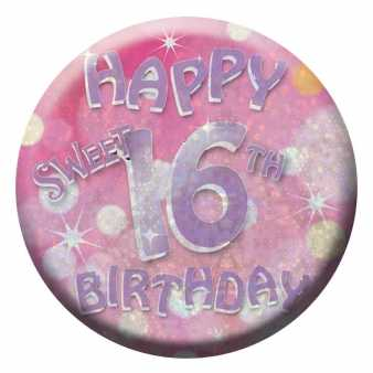 Happy Sweet 16 Ansteckbutton