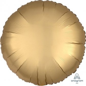 Satin Luxe Gold Folienballon, Rund