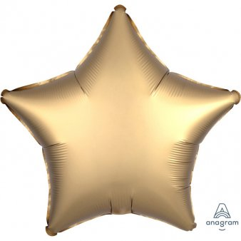 Satin Luxe Gold Folienballon, Stern
