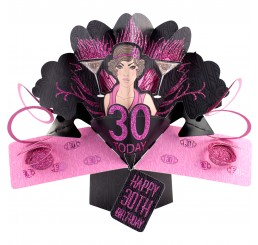 Pop up Karte Happy Birthday 30 - pink