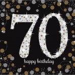 Happy Birthday Sparkling Servietten 70