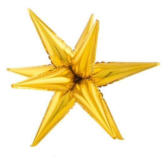 Folienballon 3 D Stern- Star gold