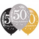 Luftballons Zahl 50 Happy Birthday