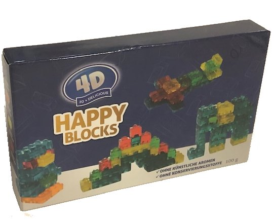 Happy Blocks 4D Fruchtgummi, 100g